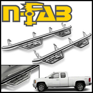 N fab Nerf Bars Cab Length Step Bars Fit 2007 2013 Silverado 1500 Extended Cab