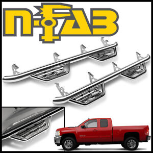 N fab Nerf Bars Podium Ss Step Bars Fit 07 13 Silverado 2500 3500 Extended Cab