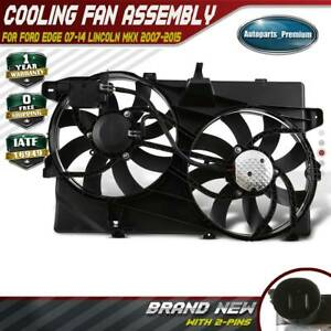 Radiator And Condenser Fan W Control Module For 2007 2014 Ford Edge Lincoln Mkx
