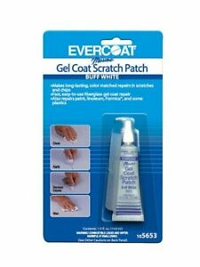 Evercoat Fiberglass Gel Coat Scratch Patch 1 2oz Buff White 105653