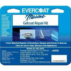 Evercoat Fiberglass Resin Marine Gelcoat Repair Kit Boat Hull 108000