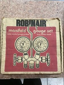 Robinair Two way Wheel Manifold Gauge Set W Hoses Model 40153