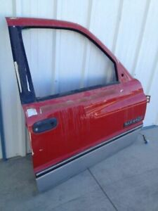 94 97 Club Cab Dodge Ram 1500 Pickup Right Front Electric Red Door No Dents