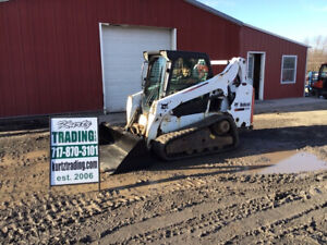 2014 Bobcat T590 Compact Track Skid Steer Loader W Cab Only 1400 Hours