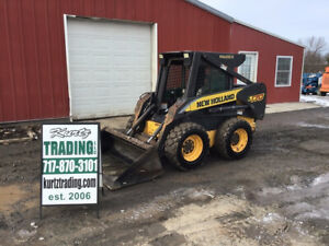 2006 New Holland L170 Skid Steer Loader W Cab No Door Only 3000 Hours