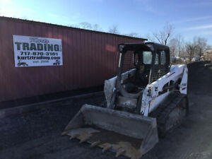 2015 Bobcat T550 Compact Track Skid Steer Loader Only 1700 Hours New Tracks