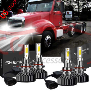 9005 9006 Led Headlight Hi low Beam Bulbs For Freightliner Columbia 2005 2012