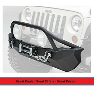 Smittybilt Xrc Front Bumper With Buil in Winch Plate For 07 17 Jeep Jk 76806