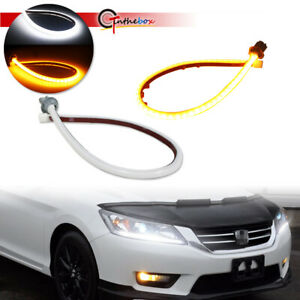 For 2013 15 Honda Accord Switchback Drl Led Strip Lights Headlight Retrofit Kit