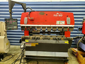 Amada Rg50 Cnc Press Brake Mfg 1995 Ncll Controls 3 94 Stroke Sanson Nw