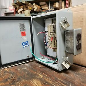 Wiegmann Electrical Enclosure Control Box With Backplate Type 12