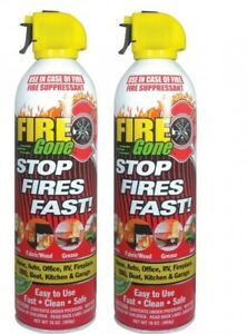 2 Pack Lot Fire Gone 16 Oz Can Fire Extinguisher Emergency Vehicle Uses