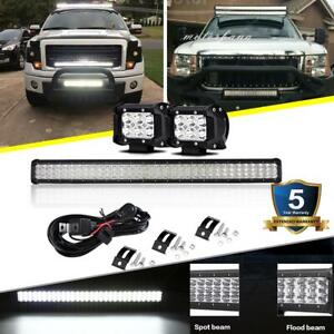 30 Inch Led Light Bar Combo 4 Pods Offroad For Ford Dodge Ram 1500 2500 3500