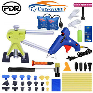 43pc Pdr Paintless Car Dent Remover Repair Us Kit Dent Puller Tap Kit Diy Tools