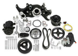 Holley Mid mount Black Complete Accessory System For 1973 1987 Gm C10 2wd Ls