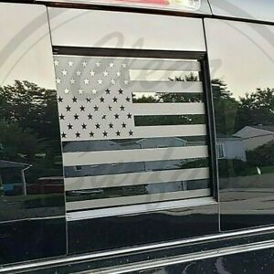 Fits Dodge Ram 2009 2021 Rear Back Middle Window American Flag Decal Sticker