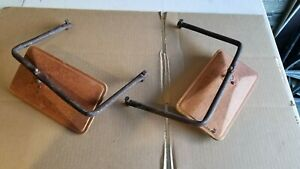 Vintage Ford Chevy Dodge F 100 Truck West Coast Jr Style Mirrors Patina Rat Rod