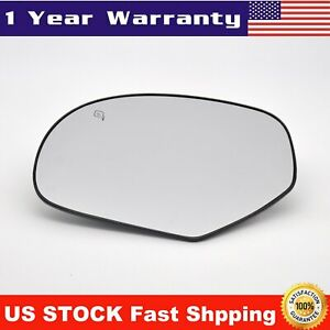 Mirror Glass Power Heated Left Driver Side Left For 2007 2014 Cadillac Chevy Gmc