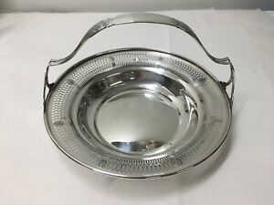 Sterling Silver Basket Serving Dish Bowl Whiting Mamufacturing Company 7846