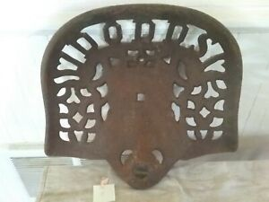 Antique Vintage Dodds Cast Iron Tractor Seat Original Old Farm
