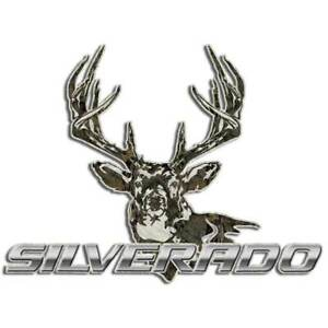 Whitetail Deer Hunting Silverado Camouflage Decal Truck Bow Case Window Sticker