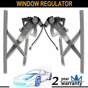 2pcs For 91 01 Ford Explorer Front Left Right Power Window Regulator W Motor