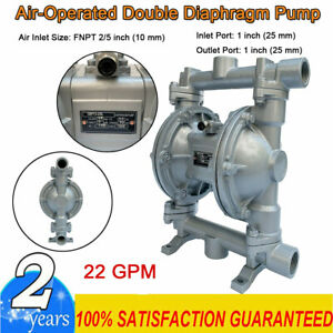 Air operated Double Diaphragm Pump 1 Inlet Outlet Low Viscosity Fluids 22gpm