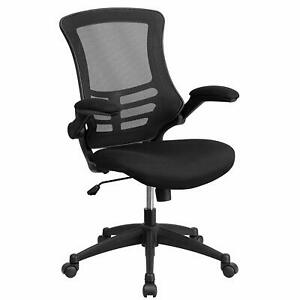 Used Flash Furniture Mid back Black Mesh Swivel Office Chair Bl x 5m bk gg