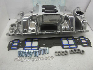 Small Block Chevy Polished Dual Plane Air Gap Intake Manifold gasket