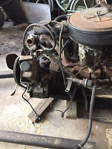 Complete Chevy 292 Inline 6 Engine And Transmission