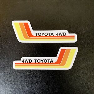Vintage Racing Stripes Toyota Sticker Decal 4x4 4wd 4 X1 41 Tacoma Tundra Sr5