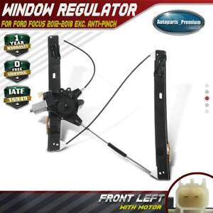 Front Left Window Regulator W Motor For Ford Focus 12 18 751 775 Exc Anti Pinch