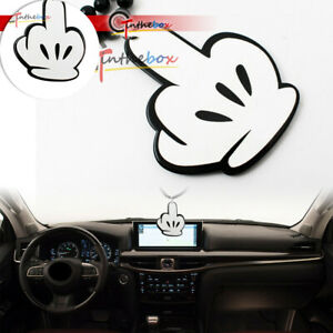 Car Rearview Mirror Hanging Ornament Dangling Pendant Jdm Mickey Middle Finger