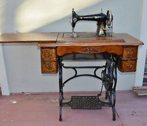 Fireside Antique Working Sewing Machine Cabinet