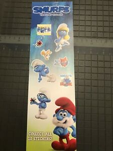 Smurfs Stickers From Vending Machine