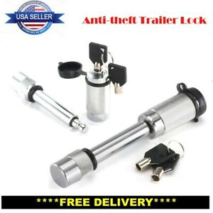 Upgrade 5 8 In Hitch Pin Lock W Keys For Rv Truck Trailer Tow Receiver Universal