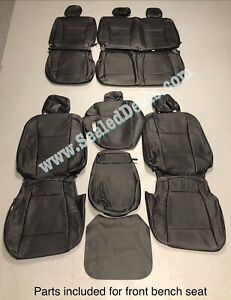 2019 2020 Ford F250 F350 Superduty Crew Cab Xl Black Katzkin Leather Seat Covers