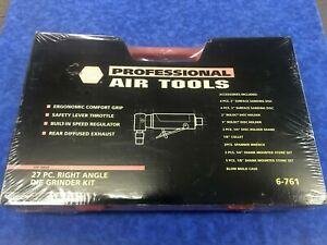 Napa Professional Air Tools 6 761 1 4 Dr 27 Pc Right Angle Die Grinder Kit New