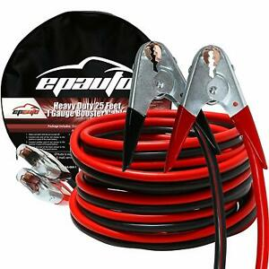 Epauto 1 Gauge X 25 Ft 800a Heavy Duty Booster Jumper Cable With Carry Bag