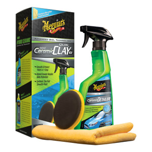 Meguiar s Hybrid Ceramic Quik Clay And Ceramic Detailer Sio2 Technology Kit