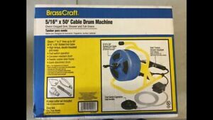 Brass Craft Bc260 50 Ft Plumbing Snake Auger Cable Drum Machine Drain Opener
