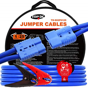 Topdc Jumper Cables With Quick Connect Plug 1 Gauge 25 Feet 700amp Heavy Duty X