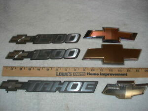 Assortment Of Chevrolet Tahoe 1500 Chevy Truck Emblems