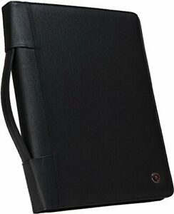 Case it Executive Zippered Padfolio With Removable 3 ring Binder Single Pad 40