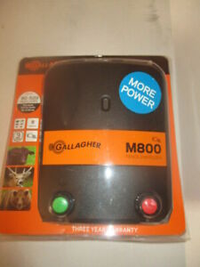 Sealed Gallagher M800 8joule Electric Fence Charger 520 Acres 90 Miles New
