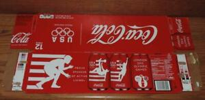 2012 USA COCA-COLA LONDON OLYMPIC COLLECTOR SERIES EMPTY 12-PACK SODA CAN CARTON