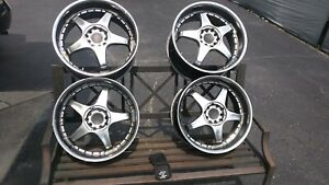 Rare Jdm Imported Light Weight Rims 17x7 5 5x100