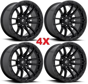 20 Black Wheels Rims Fuel Rebel D67920908457 Method Grid