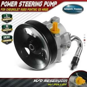 Power Steering Pump W Pulley For Chevrolet Aveo Pontiac G3 Wave L4 1 6l 20 806