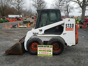2005 Bobcat S130 Skidloader Enclosed Cab W heat New Tires